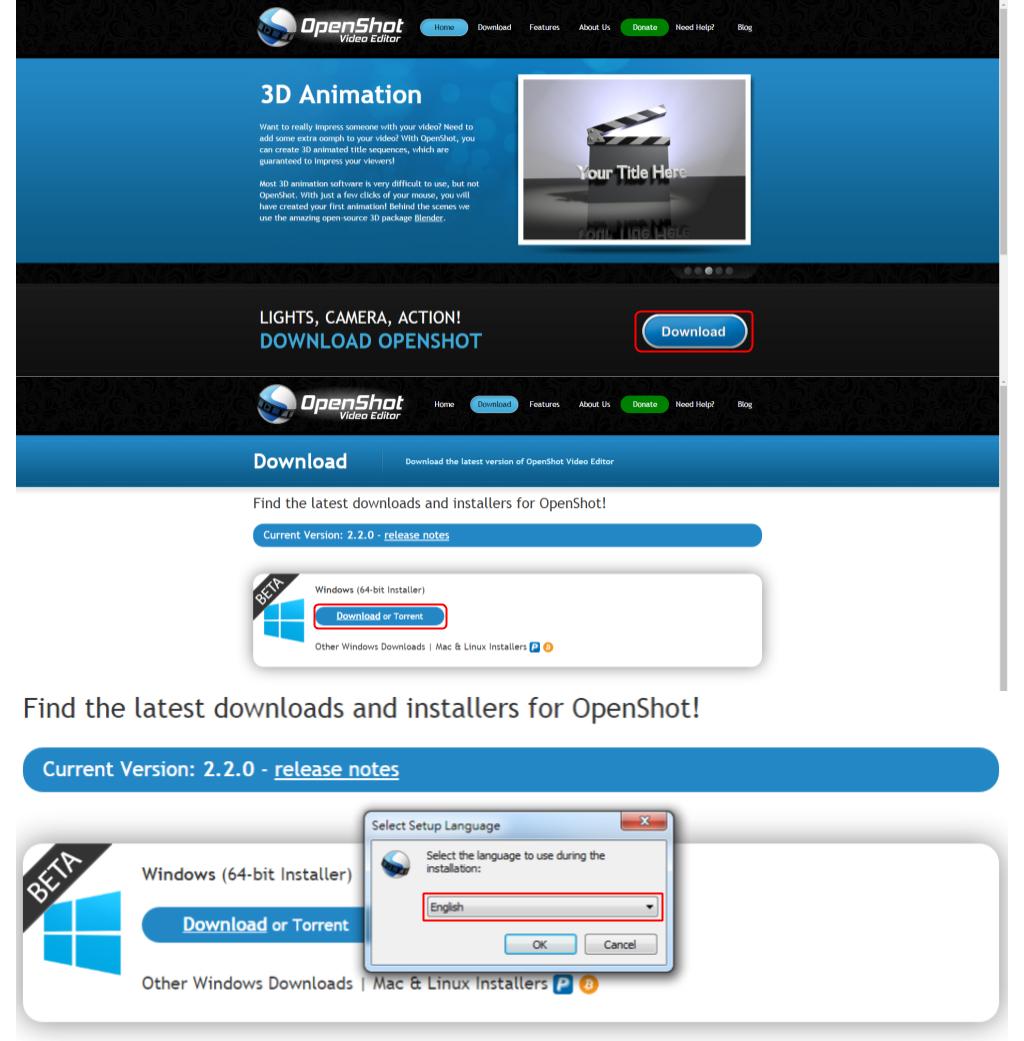 OpenShot 下載及安裝軟體