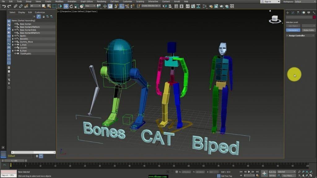 取自慕容釋迦老師「三小時就學會!3dsMax骨架、蒙皮」與動畫教學