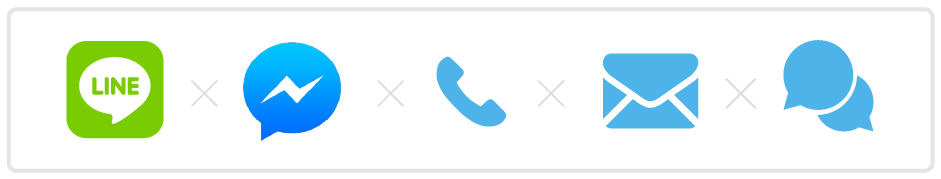 線上客服、Line、FB Messenger 、客服信箱、電話等管道也都可以聯絡到我們