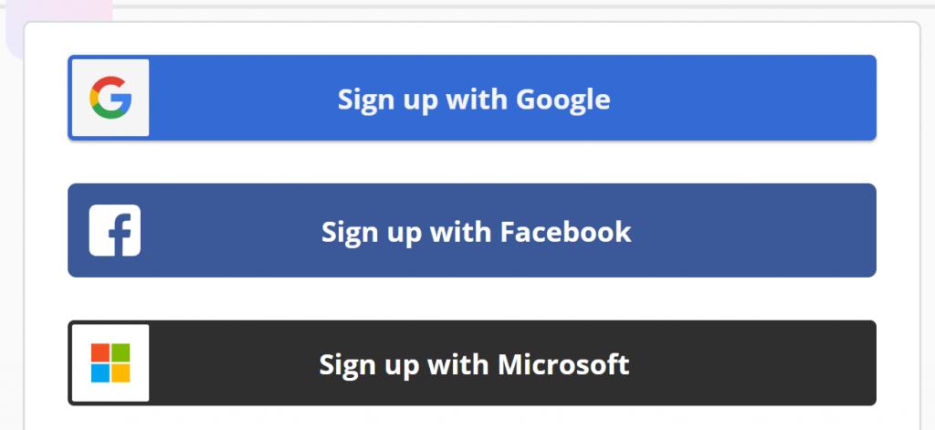 建議使用fb或是gmail註冊ZAPIER