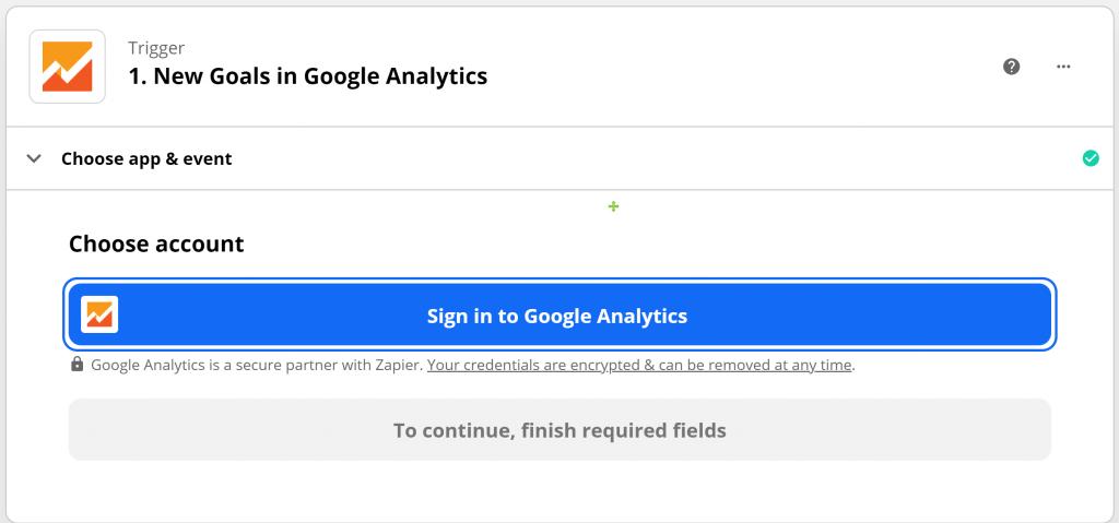 設定觸發APP與事件—登入個人/公司Google-Analytics帳號